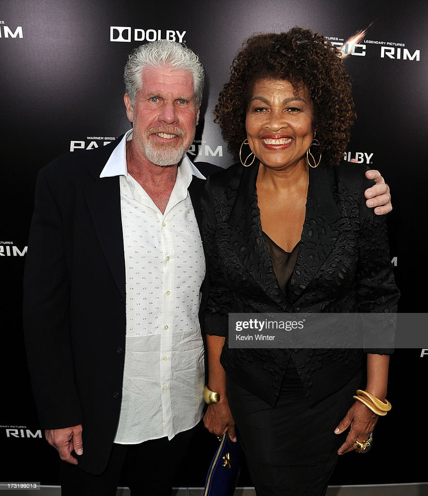 Actor Ron Perlman (L) and Opal Perlman arrive at the premiere of Warner Bros. Pictures' and Legendary Pictures' 'Pacific Rim' at Dolby Theatre on July 9, 2013 in Hollywood, California.