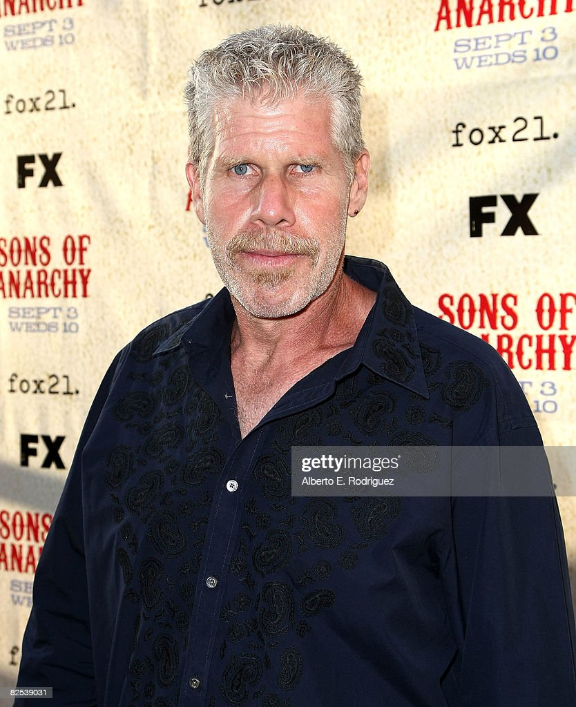 fx networks screening of actor ron perlman arrives at the series premiere screening of fx network s sons of anarchy