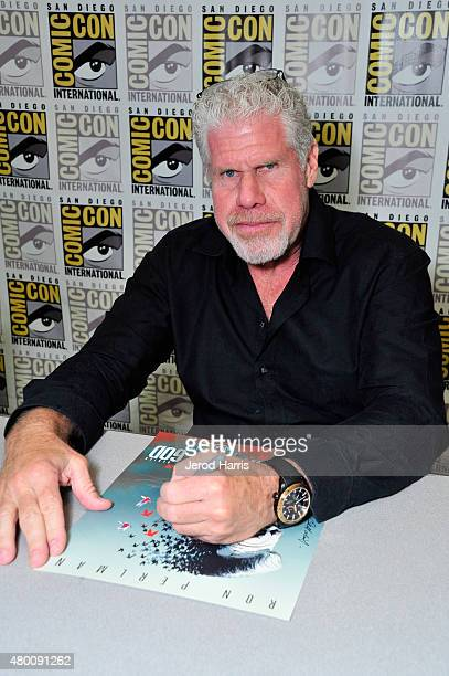 Actor Ron Perlman attends Amazon Original Series 'Hand of God' Panel And Signing on July 9 2015 in San Diego California
