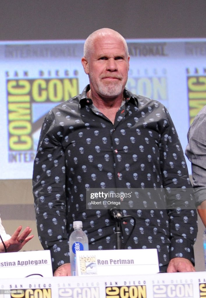 Actor <a gi-track='captionPersonalityLinkClicked' href=/galleries/search?phrase=Ron+Perlman+-+Actor&family=editorial&specificpeople=208159 ng-click='$event.stopPropagation()'>Ron Perlman</a> attends the 20th Century Fox presentation during Comic-Con International 2014 at San Diego Convention Center on July 25, 2014 in San Diego, California.