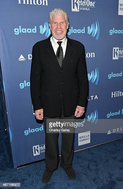 Actor Ron Perlman attends the 26th Annual GLAAD Media Awards at The Beverly Hilton Hotel on March 21 2015 in Beverly Hills California