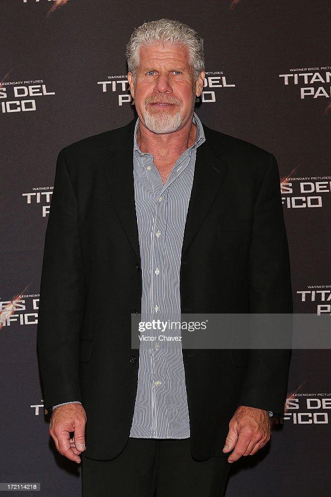 Actor Ron Perlman attends the 'Pacific Rim (Titanes Del Pacifico)' Mexico City premiere at Reforma 222 on July 1, 2013 in Mexico City, Mexico.