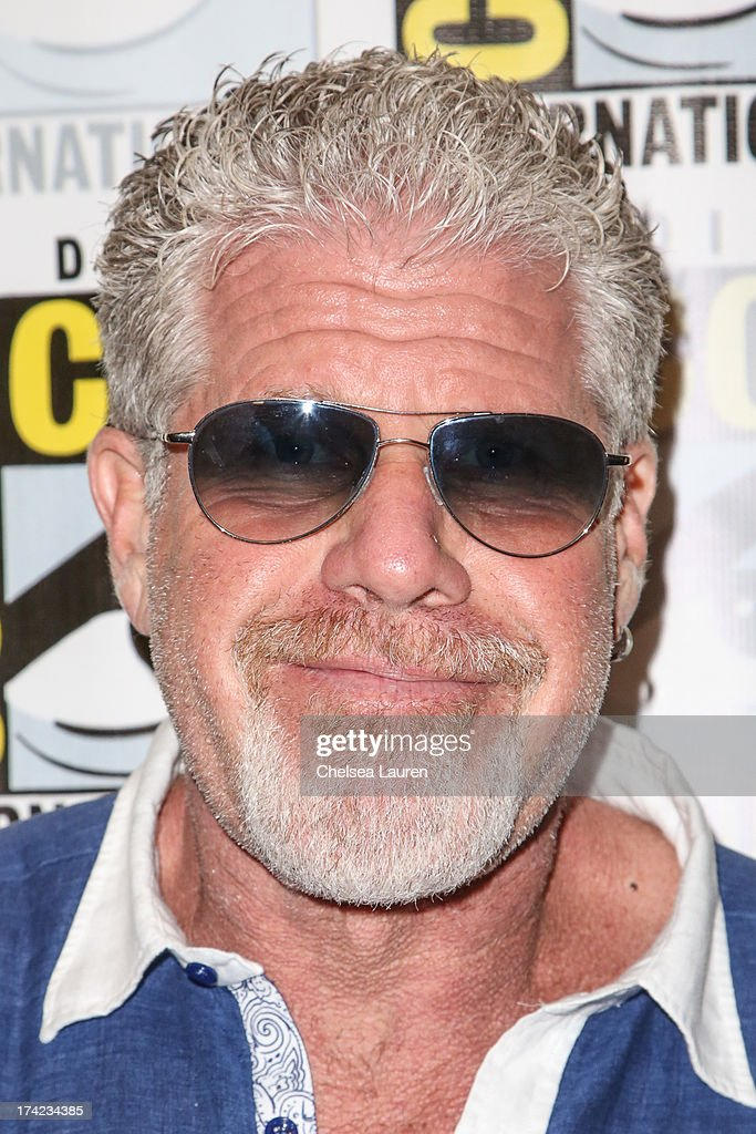 Actor <a gi-track='captionPersonalityLinkClicked' href=/galleries/search?phrase=Ron+Perlman+-+Actor&family=editorial&specificpeople=208159 ng-click='$event.stopPropagation()'>Ron Perlman</a> attends the 'Sons of Anarchy' press line during day 4 of Comic-Con International on July 21, 2013 in San Diego, California.