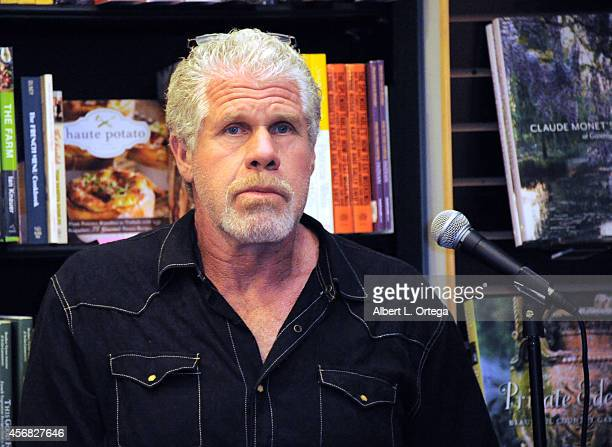 Actor Ron Perlman signs and discusses 'Easy Street A Memoir' held at Book Soup on October 7 2014 in West Hollywood California