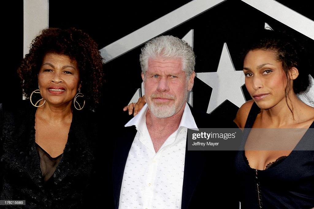 Actor Ron Perlman (C), wife Opal Perlman and daughter Blake Perlman arrive at the 'Pacific Rim' - Los Angeles Premiere at Dolby Theatre on July 9, 2013 in Hollywood, California.
