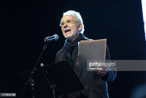 Actor Ron Rifkin speaks onstage during The Survivor Mitzvah Project A benefit for Holocaust survivors at Webster Hall on May 9 2015 in New York City