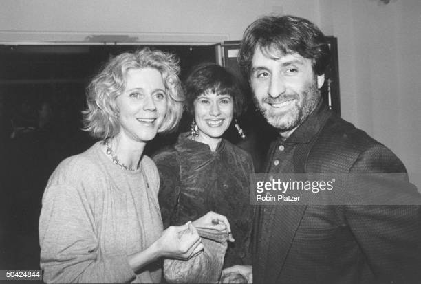 Actor Ron Silver w his wife Lynne and actress Blythe Danner at private screening of Adrian Lyne's Jacob's Ladder