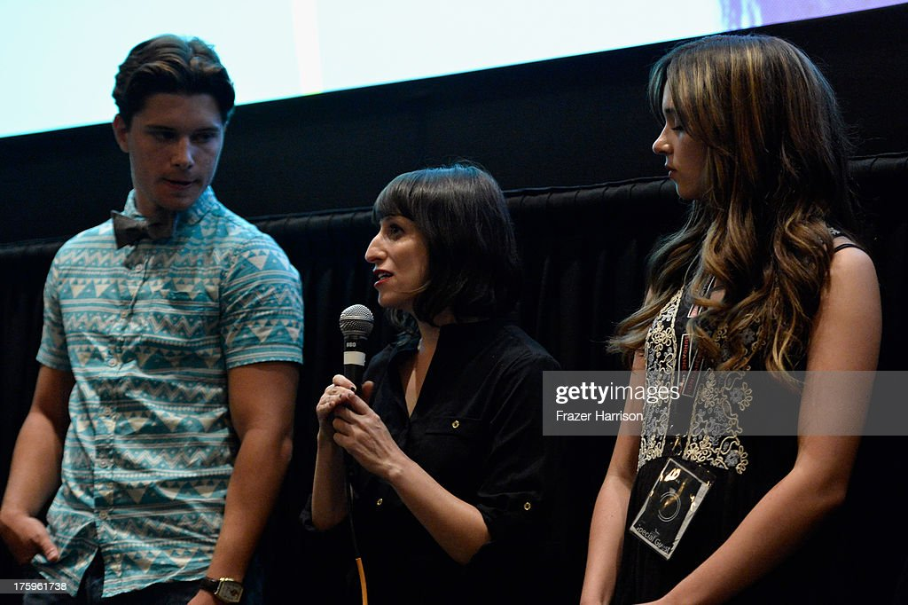 Actor Ronen Rubinstein director Eliza Hittman and actress Gina Piersanti speak onstage during 'It Felt Like Love' premiere during NEXT WEEKEND...