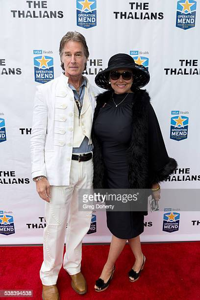 Actor Ronn Moss and wife and Author Devin DeVasquez attend The Thalians Presidents Club Anchors Away Brunch at the California Yacht Club on June 5...