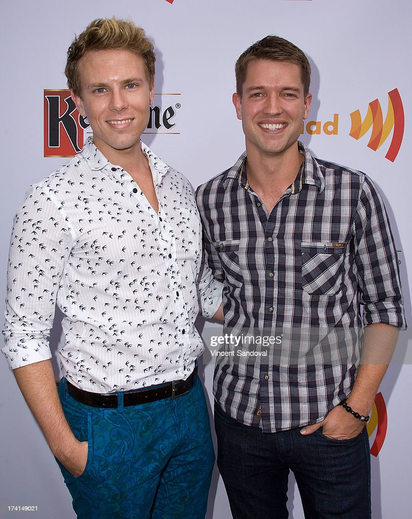 Actor Ronnie Kroell (R) and guest attend GLAAD's annual food-themed fundraiser 'GLAAD Hancock Park' on July 20, 2013 in Los Angeles, California.