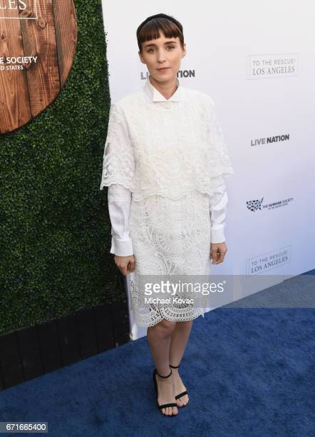 Actor Rooney Mara at The Humane Society of the United States' To the Rescue Los Angeles Gala at Paramount Studios on April 22 2017 in Hollywood...