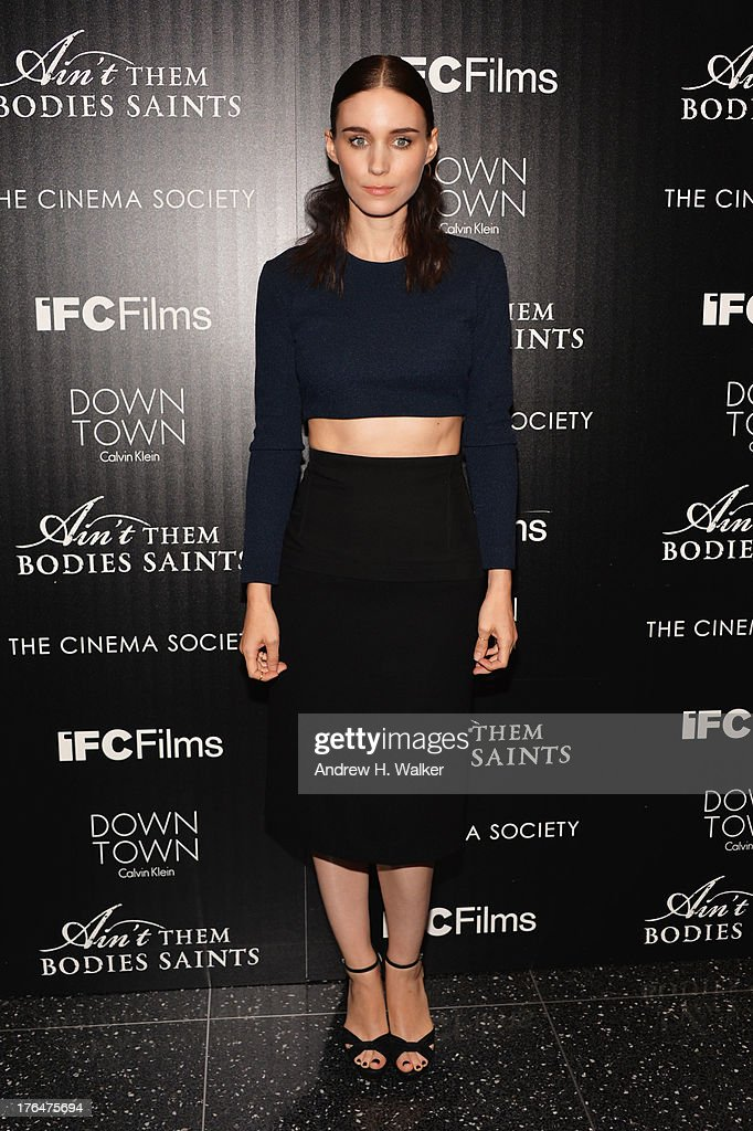Actor Rooney Mara attends the Downtown Calvin Klein with The Cinema Society screening of IFC Films' 'Ain't Them Bodies Saints' at the Museum of...