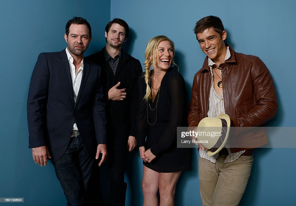 Actor Rory Cochrane, actor James Lafferty, actress Katee Sackhoff and actor Brenton Thwaites of 'Oculus' pose at the Guess Portrait Studio during 2013 Toronto International Film Festival on September 9, 2013 in Toronto, Canada.