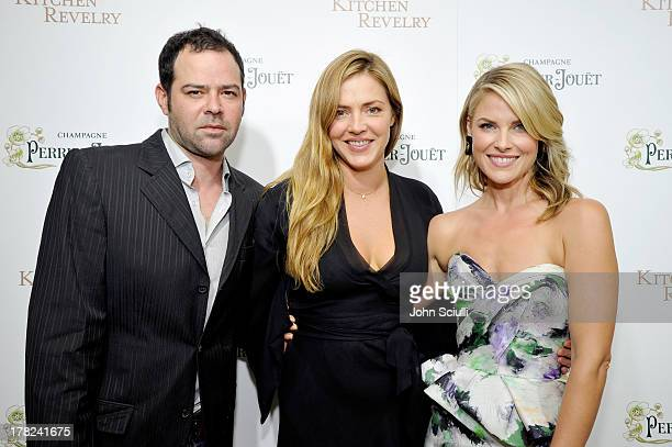 Actor Rory Cochrane Tracy Zahoryin and Ali Larter celebrate the release of Ali Larter's new cookbook 'Kitchen Revelry' with PerrierJouet at Sunset...