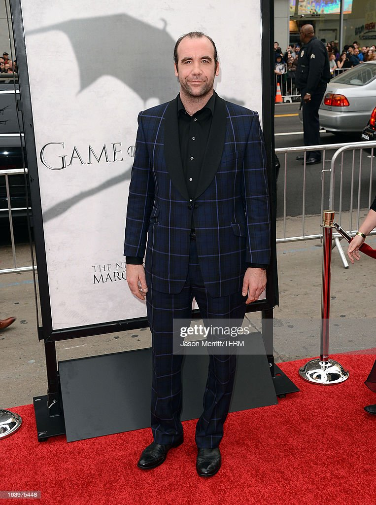 Actor Rory McCann arrives at the premiere of HBO's 'Game Of Thrones' Season 3 at TCL Chinese Theatre on March 18, 2013 in Hollywood, California.