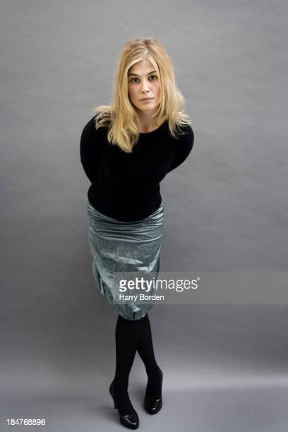 Actor Rosamund Pike is photographed for the Observer on September 20 2006 in London England