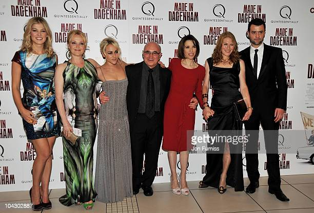 Actor Rosamund Pike Miranda Richardson Jaime Winstone Bob Hoskins Sally Hawkins Geraldine James and Daniel Mays attend the 'Made in Dagenham' world...