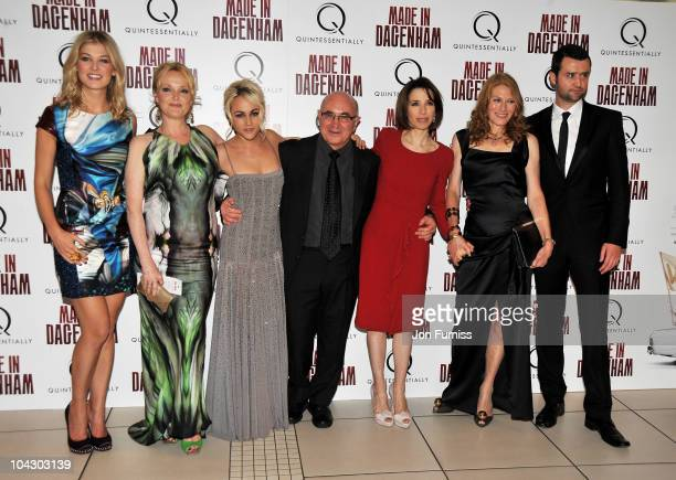 Actor Rosamund Pike Miranda Richardson Jaime Winstone Bob Hoskins Sally Hawkins Geraldine James and Daniel Mays attend the 'Made in Dagenham' world...