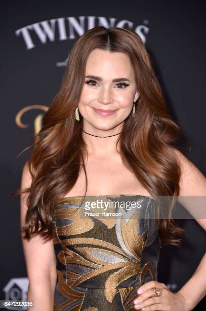 Actor Rosanna Pansino attends Disney's 'Beauty and the Beast' premiere at El Capitan Theatre on March 2 2017 in Los Angeles California