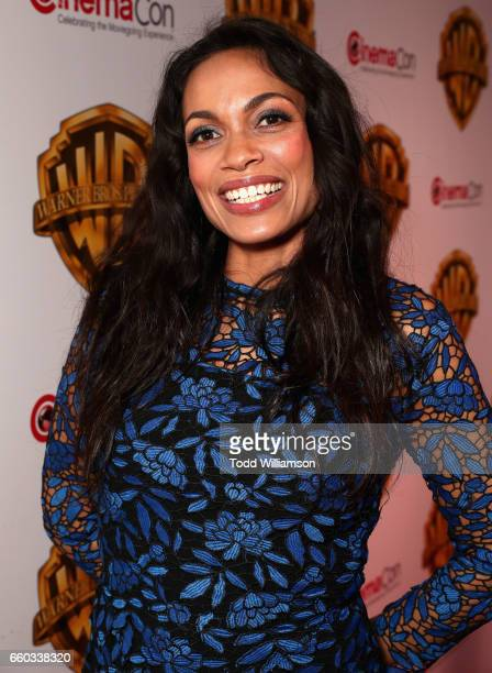 "Actor Rosario Dawson at CinemaCon 2017 Warner Bros Pictures Invites You to ""The Big Picture"" an Exclusive Presentation of our Upcoming Slate at The..."
