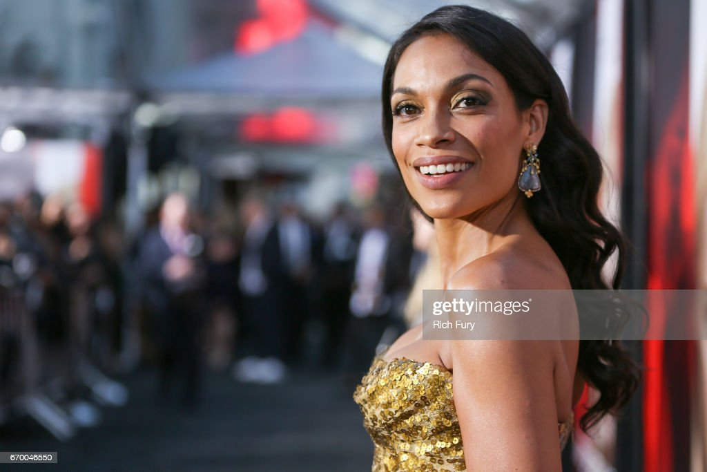 Actor Rosario Dawson attends the premiere of Warner Bros. Pictures' 'Unforgettable' at TCL Chinese Theatre on April 18, 2017 in Hollywood, California.