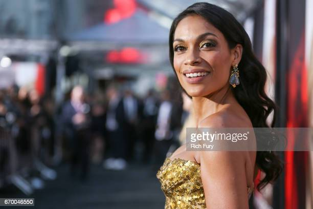 Actor Rosario Dawson attends the premiere of Warner Bros Pictures' 'Unforgettable' at TCL Chinese Theatre on April 18 2017 in Hollywood California