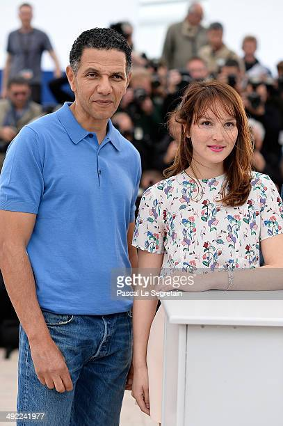 Actor Roschdy Zem and actress Anais Demoustier attends the 'Bird People' photocall at the 67th Annual Cannes Film Festival on May 19 2014 in Cannes...