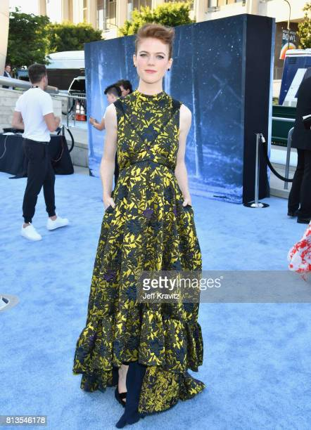 Actor Rose Leslie at the Los Angeles Premiere for the seventh season of HBO's 'Game Of Thrones' at Walt Disney Concert Hall on July 12 2017 in Los...