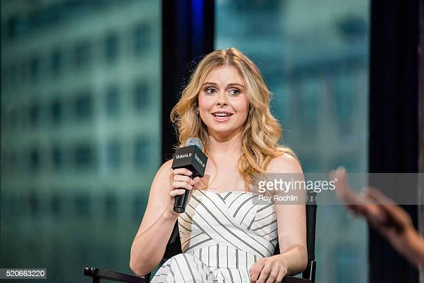 Actor Rose McIver discusses her show 'iZombie' with AOL Build at AOL Studios In New York on April 12 2016 in New York City