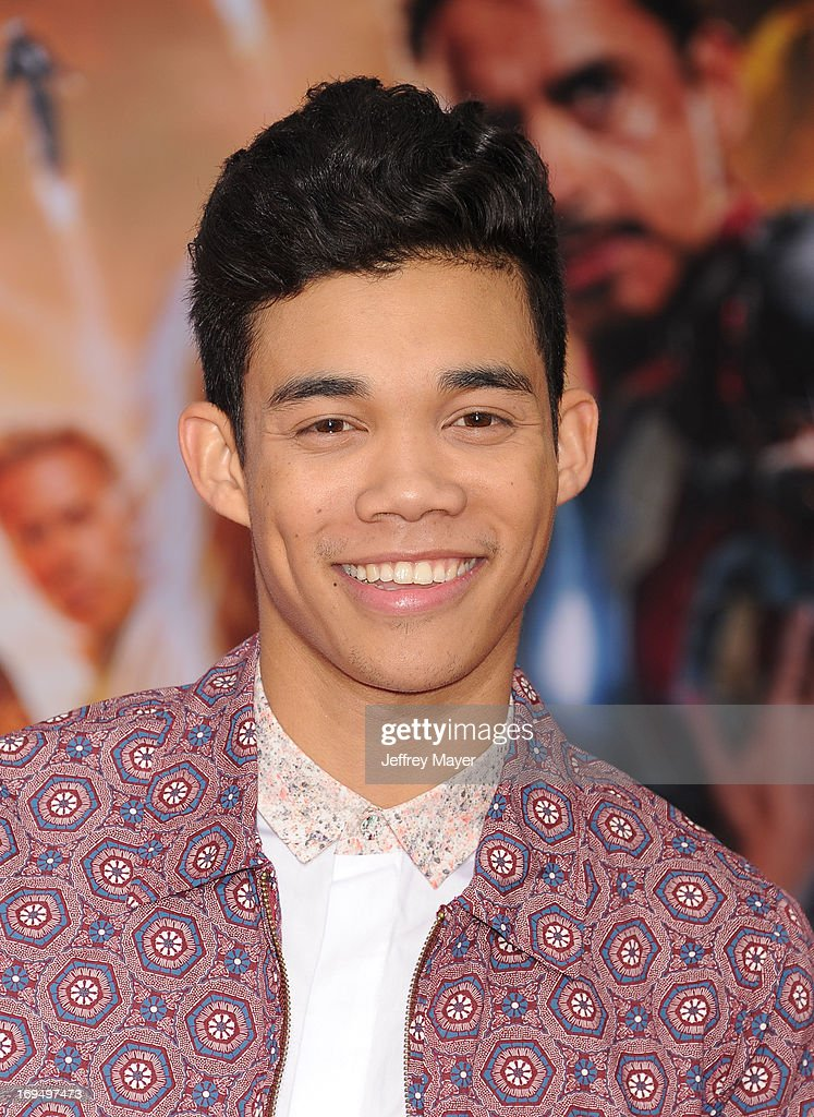 Actor Roshon Fegan arrives at the Los Angeles Premiere of 'Iron Man 3' at the El Capitan Theatre on April 24 2013 in Hollywood California