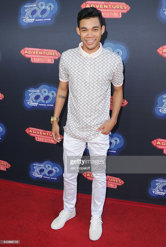 Actor Roshon Fegan arrives at the Premiere Of 100th Disney Channel Original Movie 'Adventures In Babysitting' And Celebration Of All DCOMS at...