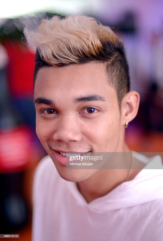 Actor <a gi-track='captionPersonalityLinkClicked' href=/galleries/search?phrase=Roshon+Fegan&family=editorial&specificpeople=4896999 ng-click='$event.stopPropagation()'>Roshon Fegan</a> with Flips Audio, the exclusive headphone sponsor of 102.7 KIIS FM's 2014 Wango Tango backstage at StubHub Center on May 10, 2014 in Los Angeles, California.