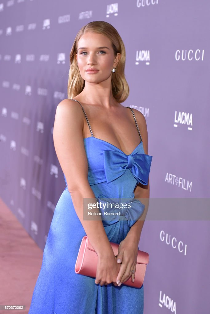 Actor Rosie Huntington-Whiteley attends the 2017 LACMA Art + Film Gala Honoring Mark Bradford and George Lucas presented by Gucci at LACMA on November 4, 2017 in Los Angeles, California.