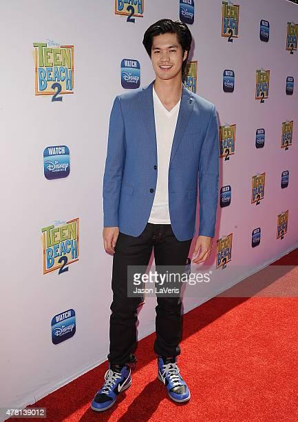 Actor Ross Butler attends the premiere of 'Teen Beach 2' at Walt Disney Studios on June 22 2015 in Burbank California