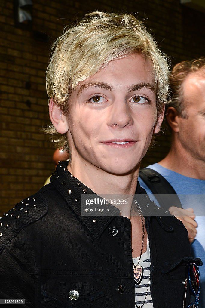 Actor <a gi-track='captionPersonalityLinkClicked' href=/galleries/search?phrase=Ross+Lynch&family=editorial&specificpeople=4814597 ng-click='$event.stopPropagation()'>Ross Lynch</a> leaves the 'Live Wtih Kelly And Michael' taping at the ABC Lincoln Center Studios on July 18, 2013 in New York City.