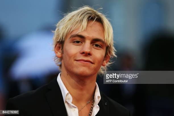 US actor Ross Lynch poses on the red carpet before the screening of the movie 'Mother' on September 8 2017 in the northwestern sea resort of...