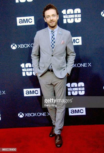 Actor Ross Marquand attends AMC Celebrates The 100th Episode of 'The Walking Dead' at The Greek Theatre on October 22 2017 in Los Angeles California