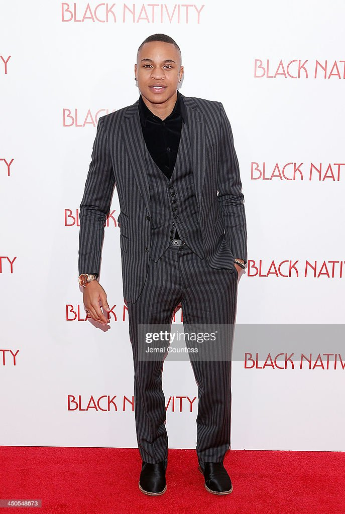 Actor Rotimi attends the 'Black Nativity' premiere at The Apollo Theater on November 18, 2013 in New York City.