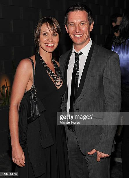 Actor Rove McManus and actress Tasma Walton arrive at the 2010 Australians In Film Breakthrough Awards at Thompson Hotel on May 13 2010 in Beverly...