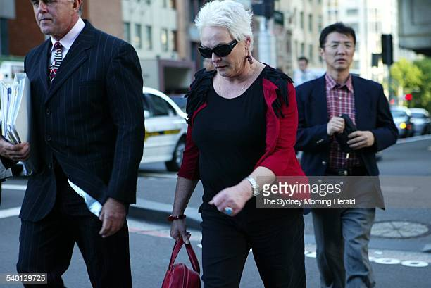 Actor Rowena Wallace leaves the Downing Centre Courts after receivomg a six month suspended sentencing for defrauding Centrelink whilst wrongfully...