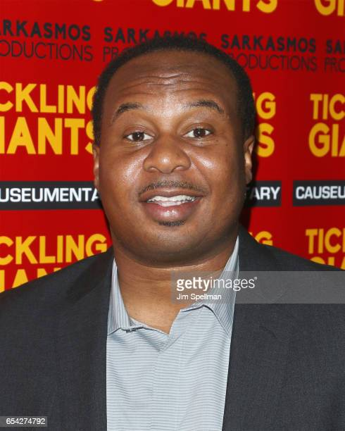 Actor Roy Wood Jr attends the 'Tickling Giants' New York premiere at IFC Center on March 16 2017 in New York City
