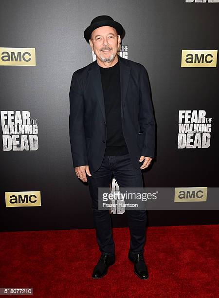 Actor Ruben Blades attends the premiere of AMC's 'Fear The Walking Dead' Season 2 at Cinemark Playa Vista on March 29 2016 in Los Angeles California