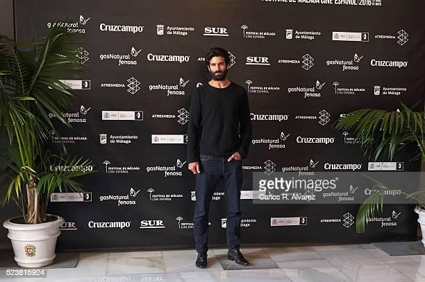 Actor Ruben Cortada attends 'El Signo de Caronte' photocall at the Cervantes Theater during the 19th Malaga Film Festival on April 24 2016 in Malaga...
