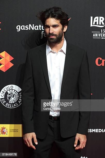 Actor Ruben Cortada attends the Malaga Film Festival 2016 presentation cocktail at the Circulo Bellas Artes on April 6 2016 in Madrid Spain