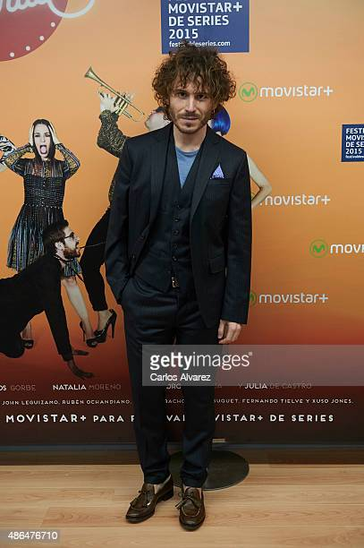 Actor Ruben Ochandiano attend 'Mucha Mierda' photocall during the 7th FesTVal Television Festival 2015 at the Europa Auditorium on September 4 2015...