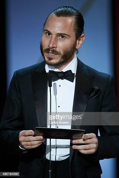 Actor Ruben Ochandiano attends the closing ceremony of the 63rd San Sebastian International Film Festival at the Kursaal Palace on September 26 2015...