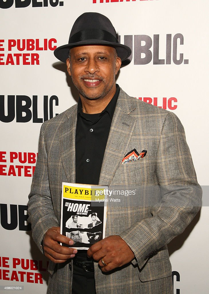 Actor Ruben SantiagoHudson attends the 'Father Comes Home From The Wars' opening night at The Public Theater on October 28 2014 in New York City