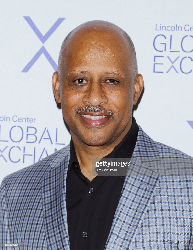 Actor Ruben SantiagoHudson attends the first annual Lincoln Center Global Exchange Evening Celebration at Alice Tully Hall on September 18 2015 in...