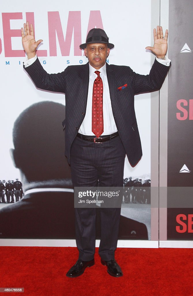Actor Ruben SantiagoHudson attends the 'Selma' New York Premiere at the Ziegfeld Theater on December 14 2014 in New York City