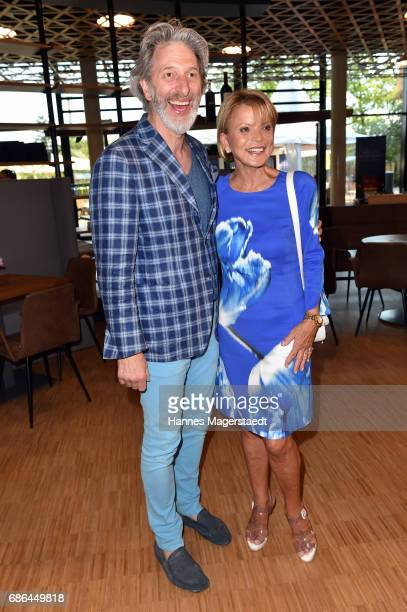 Actor Rufus Beck and actress Uschi Glas attend the Pre Golf Party during the 9th Golf Charity Cup hosted by the Christoph Metzelder Foundation at the...